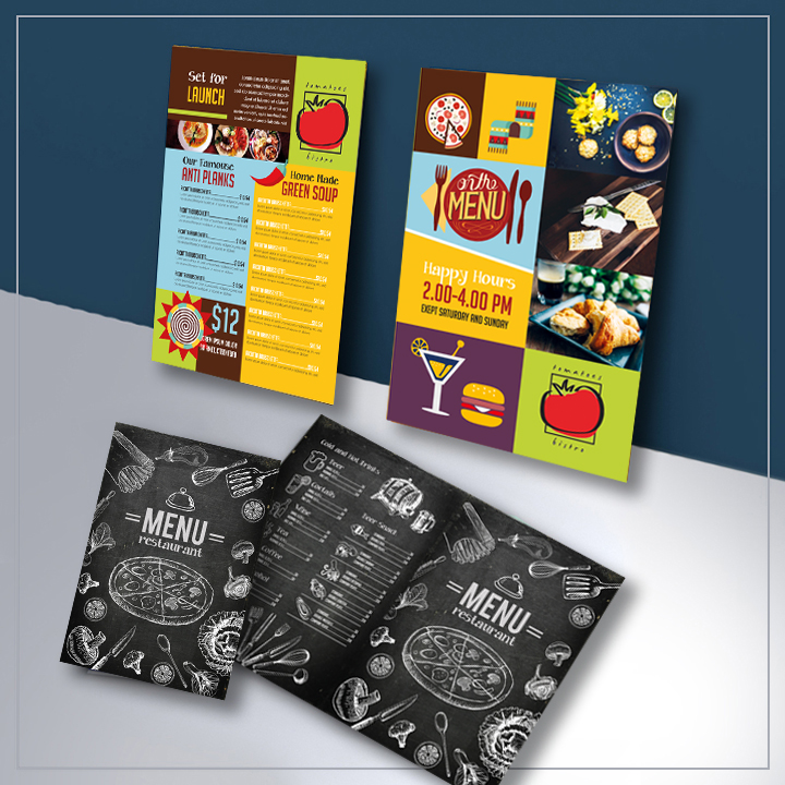 Brochures and Menus